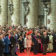 Le roi Philippe et la reine Mathilde de Belgique, avec leurs enfants Elisabeth, Gabriel, Emmanuel et Eléonore, assistaient le 21 juillet 2014 au Te Deum de la Fête nationale en la cathédrale Saints Michel-et-Gudule, à Bruxelles.