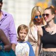 Kate Hudson à New York le 22 juillet 2014 avec son fils Ryder Robinson.