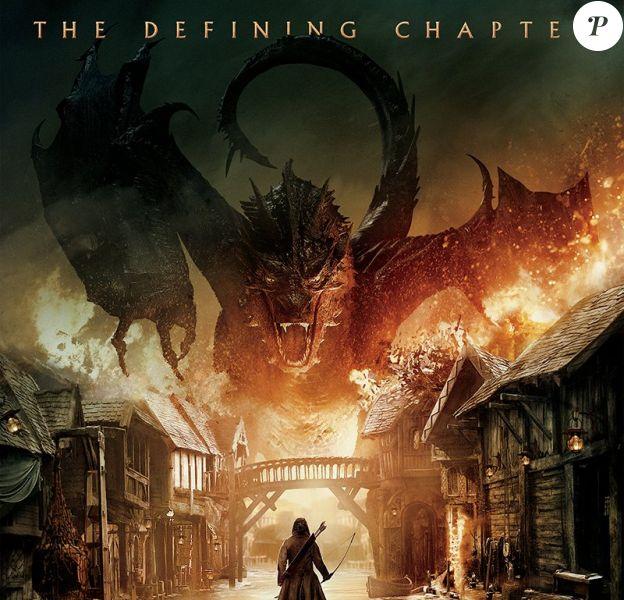 Affiche du Hobbit : La bataille des cinq armées, pour le Comic-Con 2014 de San Diego.