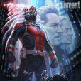 Affiche-teaser d'Andy Park pour le film Ant-Man, en vue du Comic-Con 2014 de San Diego.