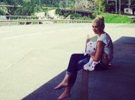 Gwen Stefani : Maman poule, elle donne le sein à Apollo en pleine nature