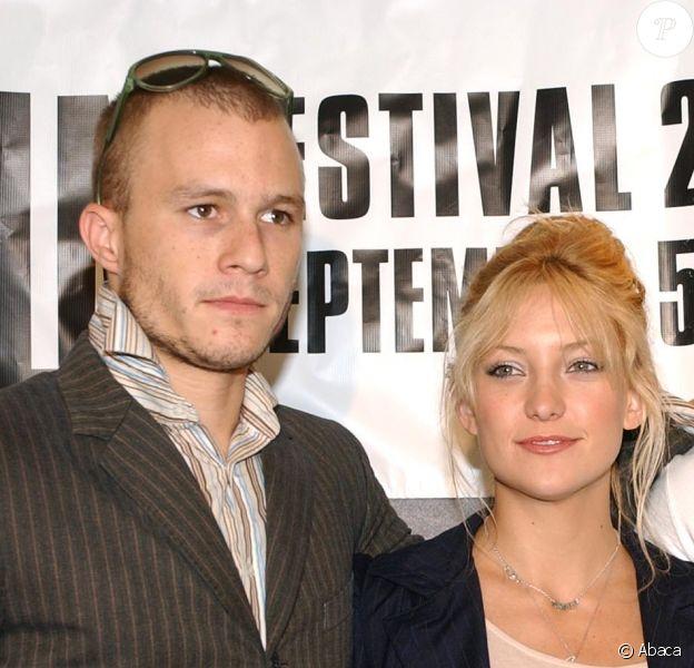 Heath Ledger, Kate Hudson et Djimon Hounsou au Festival de Toronto pour présenter Frères du désert en 2002
