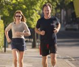 Geri Halliwell, folle amoureuse de Christian : Footing avec son homme