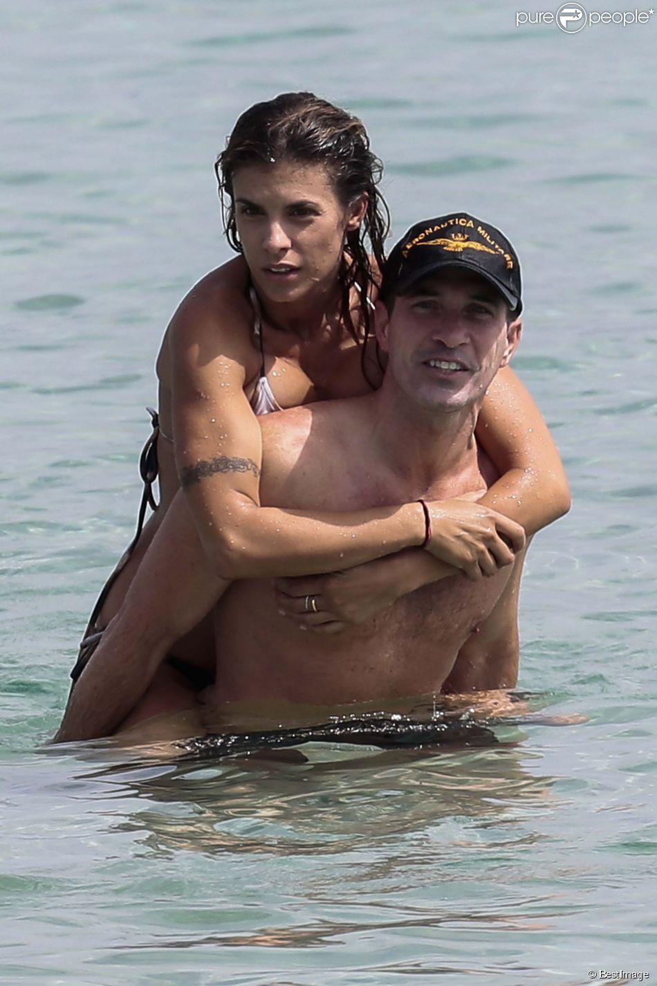 Exclusif - Elisabetta Canalis et son compagnon Brian Perri passent d'agréables moments en vacances en Sardaigne, le 24 juin 2014.