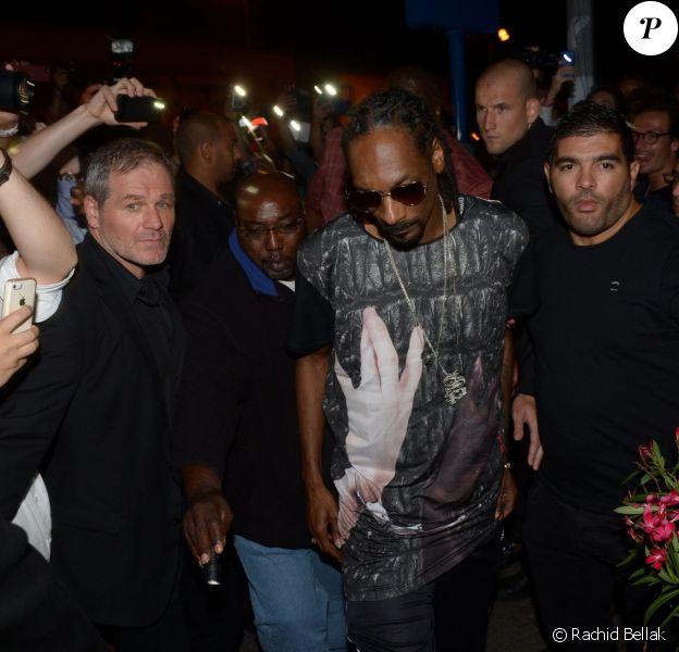 Snoop Dogg arrive au VIP Room de Saint-Tropez. Le 5 août 2014.