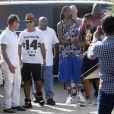 Snoop Dogg arrive à l'Eden Plage pour un DJ set en plein après-midi. Saint-Tropez, le 5 août 2014.