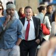 Robin Williams sur le tournage de The Angriest Man in Brooklyn le 10 septembre 2012 à New York