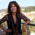 Exclusif - Clémentine Célarié à l'hôtel Aston à Nice, le 1er août 2014