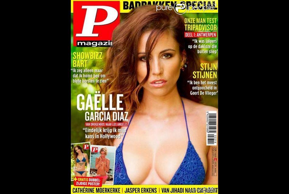 Gaëlle, petite amie de Vincent Quejo (Secret Story 7) en couverture de P Magazine.