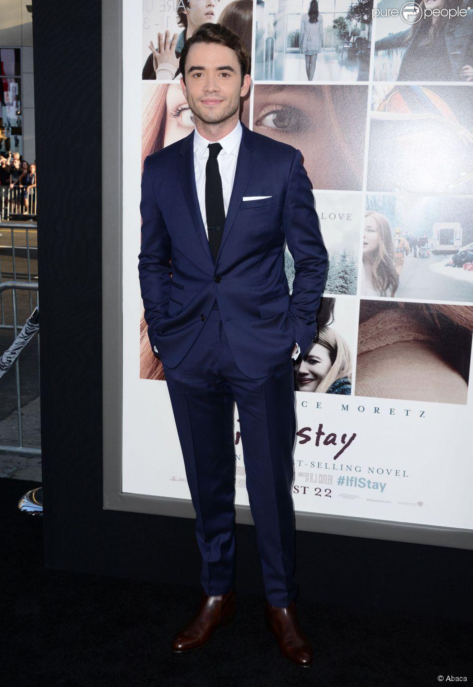 Jamie Blackley lors de l'avant-première du film Si je reste à Los Angeles le 20 août 2014