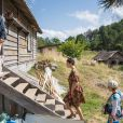 Le tournage du film d'Emir Kusturica avec Monica Bellucci à Trebinje, dans le sud de la Bosnie - 20 août 2014