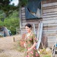 Le tournage du film d'Emir Kusturica avec Monica Bellucci à Trebinje, dans le sud de la Bosnie le 20 août 2014