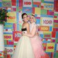 """Lena Dunham et Allison Williams lors de la """"HBO Emmy Afterparty"""" à Los Angeles, le 25 août 2014."""