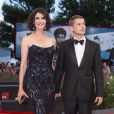 Alessandra Martines et Cyril Descours lors du festival du film de Venise, la Mostra, le 30 août 2014, à l'occasion de la projection du film Hungry Hearts