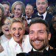 Ellen DeGeneres et son selfie lors des Oscars 2014 à Los Angeles le 2 mars.