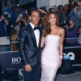 Lewis Hamilton et Nicole Scherzinger assistent aux GQ Men of the Year Awards à Londres. Le 2 septembre 2014.