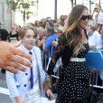 Sarah Jessica Parker et son fils James Broderick - Obsèques de Joans Rivers au Temple Emanu-El à New York, le 7 septembre 2014.