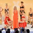 "Britney Spears dévoile sa collection de lingerie ""The Intimate Britney Spears"" lors de la fashion week à New York, le 9 septembre 2014."