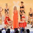 """Britney Spears dévoile sa collection de lingerie """"The Intimate Britney Spears"""" lors de la fashion week à New York, le 9 septembre 2014."""