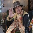 Carlos Santana dans les rues de New York, le 18 janvier 2012.