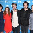 Olivia Williams, Julianne Moore, Robert Pattinson, Evan Bird lors du photocall du film Maps to the Stars au festival du film de Toronto le 9 septembre 2014