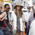 John Legend et sa femme Chrissy Teigen se rendent chez Colette, à Paris. Le 10 septembre 2014.