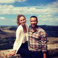 Chrissy Teigen et John Legend, en vacances en Toscane. Septembre 2014.