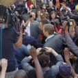 Oscar Pistorius lors de son arrivée à la North Gauteng High Court de Pretoria, le 11 septembre 2014 avant l'énoncé du verdict de son procès pour le meurtre de Reeva Steenkamp