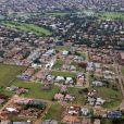Une vue aérienne du lotissement de Silver Woods à Pretoria, photo prise le 14 février 2013, le jour du meurtre de Reeva Steenkamp
