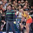 Rory McIlroy et son ex-fiancée Caroline Wozniacki au BNP Paribas Showdown au Madison Square Garden de New York le 5 mars 2012