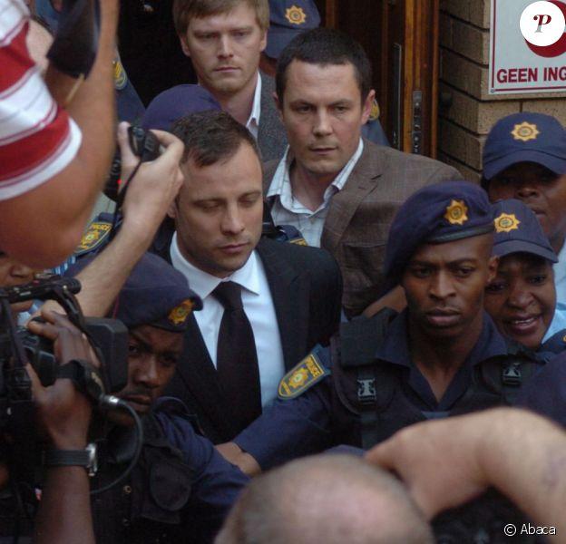 Oscar Pistorius à la sortie de la North Gauteng High Court de Pretoria le 12 septembre 2014