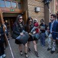 Gina Myers, la meilleure amie de Reeva Steenkamp à la sortie de la North Gauteng High Court de Pretoria le 12 septembre 2014