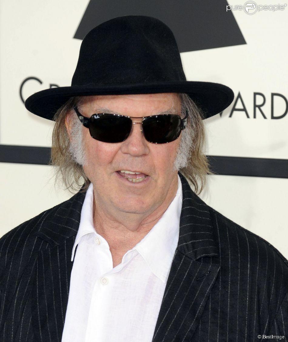 Neil Young lors de la 56e cérémonie des Grammy Awards à Los Angeles, le 26 janvier 2014