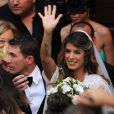 Elisabetta Canalis et Brian Perri à leur mariage, Sassari, Sardaigne, le 14 septembre 2014.