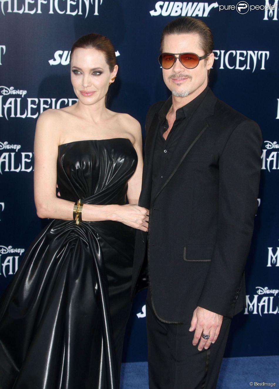 """Angelina Jolie, Brad Pitt - Première du film """"Maléfique"""" à Los Angeles le 28 mai 2014"""