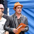 """Brad Pitt à New York, arborant sa bague de mariage le 30 août 2014"""