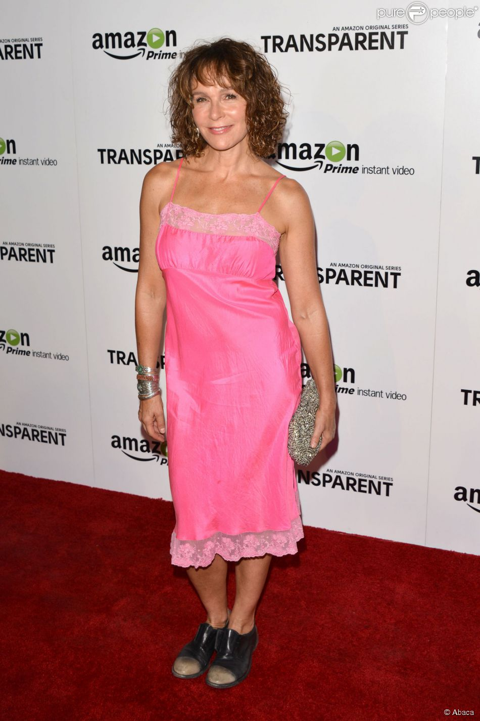 Jennifer Grey lors de la présentation du show tv Transparent à Los Angeles le 15 septembre 2014