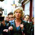 Delphine Boël, fille illégitime supposée du roi Albert II de Belgique, à Londres en octobre 1999