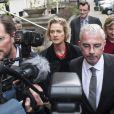 Delphine Boël, fille illégitime supposée du roi Albert II de Belgique, le 23 septembre 2014 au tribunal de première instance de Bruxelles pour l'ouverture du procès concernant sa demande de reconnaissance en paternité visant l'ancien souverain.