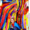 Delphine Boël, fille illégitime du roi Albert II de Belgique, en juillet 2004 lors d'une exposition de ses oeuvres à Coxyde (Koksijde).