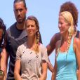 """Sara aux côtés de Sandra et Florence - """"Koh-Lanta 2014"""" sur TF1. Episode diffusé le 19 septembre 2014."""