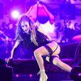 Jennifer Lopez, ultra sensuelle lors de son concert à Singapour à l'occasion du Grand Prix de Formule 1 le 21 septembre 2014
