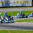 Mick Junior Schumacher (312) lors des WSK Super Master Serie à Muro Leccese sur le circuit de La Conca en Italie le 27 avril 2014