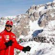 Michael Schumacher en train de skier à Madonna di Campiglio, Italie, le 12 janvier 2006.