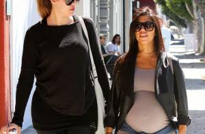 Khloé et Kourtney Kardashian enceinte : Complices et privées de Fashion Week