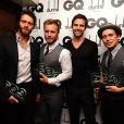 Jason Orange, Gary Barlow, Howard Donald et Mark Owen de Take That à Londres le 8 septembre 2009.