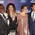 Randy Jackson, Steven Tyler, Jennifer Lopez et Ryan Seacrest - Soirée American Idol saison 11 à Los Angeles, le 1er mars 2012