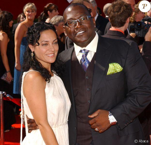Randy Jackson et sa femme Erika à la 58e cérémonie des Emmy Awards à Los Angeles, le 27 août 2006