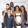 Randy Jackson et sa famille lors d'un gala à Los Angeles, le 23 octobre 2007