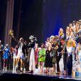 """Dernier défilé de mode """"Jean-Paul Gaultier"""", collection prêt-à-porter printemps-été 2015, au Grand Rex à Paris. Le 27 septembre 2014"""